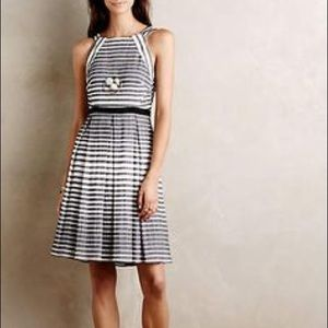 NWT Anthropologie Eva Franco Striped Pleated Dress